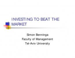 INVESTING TO BEAT THE MARKET