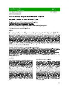 Invited Review Article Scope and challenges of organic wheat ...