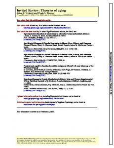 Invited Review: Theories of aging - CiteSeerX