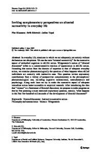 Inviting complementary perspectives on situated ... - Springer Link