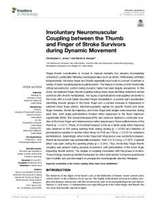 Involuntary Neuromuscular Coupling between the