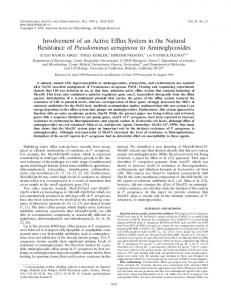 Involvement of an Active Efffux System in the Natural Resistance of ...