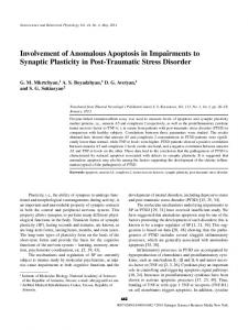 Involvement of Anomalous Apoptosis in Impairments to ... - Springer Link
