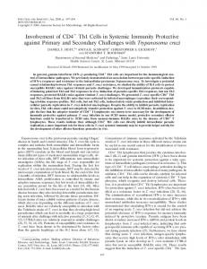 Involvement of CD4 Th1 Cells in Systemic Immunity Protective against ...
