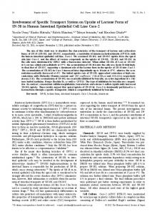 Involvement of Specific Transport System on Uptake of Lactone Form ...