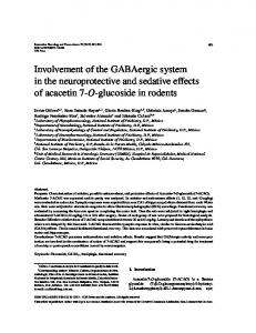 Involvement of the GABAergic system in the ...