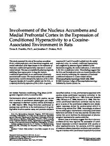 Involvement of the Nucleus Accumbens and Medial Prefrontal Cortex ...