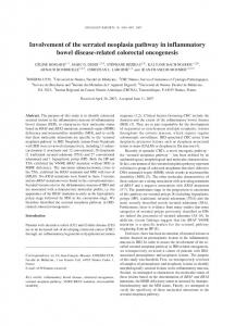 Involvement of the serrated neoplasia pathway in