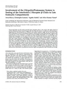 Involvement of the Ubiquitin/Proteasome System in Sorting of the ...