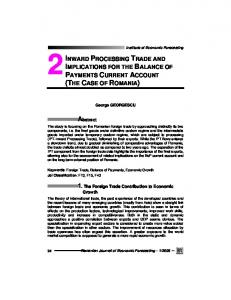 inward processing trade and implications for the balance of payments ...