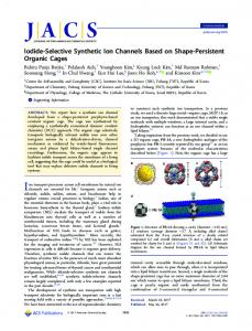 Iodide-Selective Synthetic Ion Channels Based on ... - ACS Publications