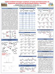 Iodine-mediated divergent synthesis of fused aza