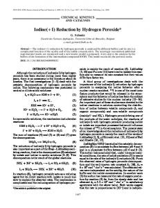 Iodine(+1) Reduction by Hydrogen Peroxide - Springer Link