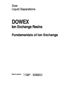 Ion Exchange Resins - The DOW Chemical Company
