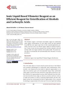 Ionic Liquid Based Vilsmeier Reagent as an Efficient Reagent for