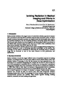 Ionizing Radiation in Medical Imaging and Efforts in Dose Optimization