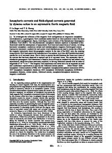 Ionospheric currents and field-aligned currents generated by dynamo ...