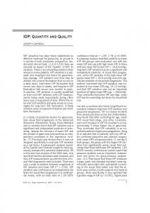 IOP: Quantity and Quality - Ophthalmologia