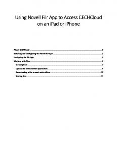 iOS Filr Guide (iPad, iPhone, iPod Touch)