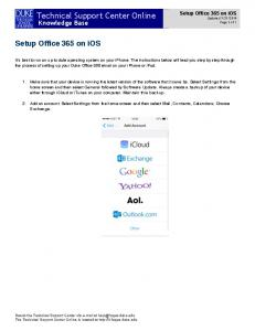 iOS Office 365 Setup