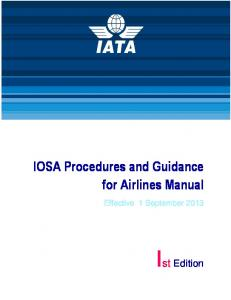 IOSA Procedures and Guidance for Airlines Manual