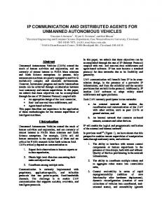ip communication and distributed agents for unmanned autonomous