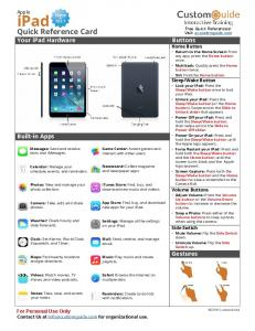 iPad iOS7 Cheat Sheet