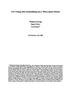 IPO Pricing with Bookbuilding and a When-Issued ... - SSRN papers