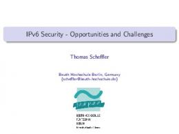 IPv6 Security - IPv6 IDS