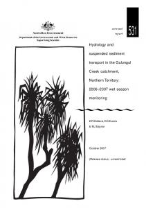 IR 531 - Hydrology and suspended sediment transport in the Gulungul