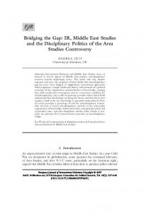IR, Middle East Studies and the Disciplinary Politics ... - SAGE Journals