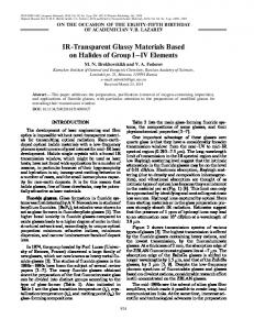 IR Transparent Glassy Materials Based on Halides of ... - Springer Link