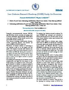 Iran Diabetes Research Roadmap (IDRR) - Iranian Journal of Public ...