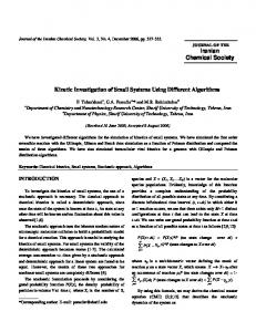 Iranian Chemical Society Kinetic Investigation of