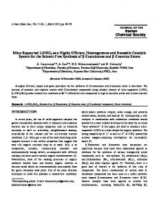 Iranian Chemical Society Silica-Supported LiHSO4 as ...