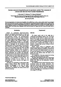 Iranian natural clinoptilolite and its synthetic zeolite P ... - Springer Link