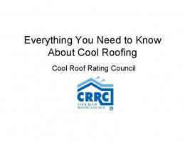 IRE Panel Everything You Need To Know About Cool Roofing