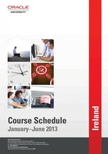 Ireland Course Schedule January-June 2013 - Oracle