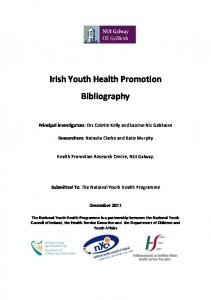 Irish Youth Health Promotion Bibliography - National Youth Health ...