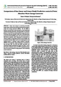 IRJET-     Comparison of Non-Linear and Linear Model Predictive Control of Point Absorber Wave Energy Converter.