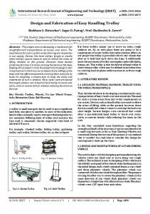 IRJET-     Design and Fabrication of Easy Handling Trolley