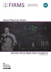 IRMS Good Practice Guide - Earth & Planetary Sciences