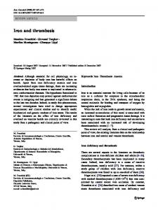 Iron and thrombosis - Springer Link