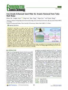 Iron-Anode Enhanced Sand Filter for Arsenic ... - ACS Publications