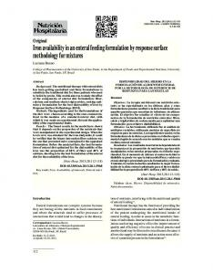 Iron availability in an enteral feeding formulation