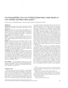Iron bioavailability from iron-fortified Guatemalan meals based on corn