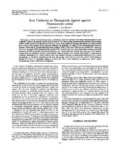 Iron Chelators as Therapeutic Agents against - Antimicrobial Agents ...