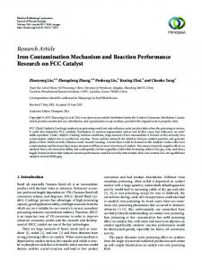 Iron Contamination Mechanism and Reaction Performance Research ...