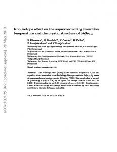 Iron isotope effect on the superconducting transition temperature and ...