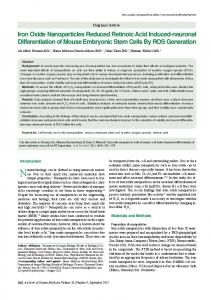 Iron Oxide Nanoparticles Reduced Retinoic Acid ...
